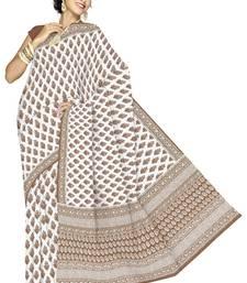 Buy Exclusive Kota Doria Pure Cotton Saree Blouse -169 cotton-saree online