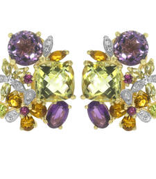 Buy 8.65ct Amethyst White gold Precious gemstone-earrings gemstone-earring online