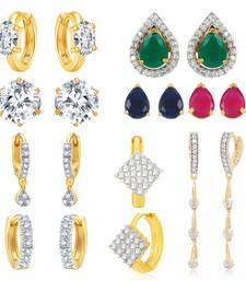 Buy Multicolor cubic zirconia earrings Earring online