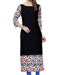 Buy Women's Multicolor Digital Print Crepe Kurti long-kurti online