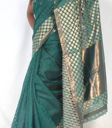 Buy Designer supernet chanderi fancy Shoulder pallu saree supernet-saree online