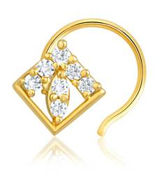 Buy Mahi Gold Plated Nose Pin with CZ for Women NR1100126G nose-ring online