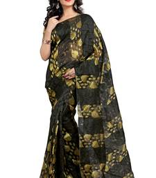 Buy Black embroidered tissue saree with blouse tissue-saree online