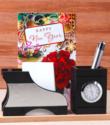 Buy New year gift of watch with pen holder new-year-gift online