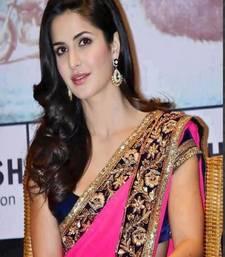 Buy Katrina kaif bollywood replica pink georgette saree katrina-kaif-saree online