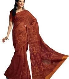 Buy Aria Maroon cotton printed summer collection saree ks349 cotton-saree online