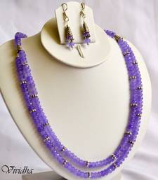 Buy Blue purple Beads Necklace set necklace-set online