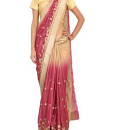 Buy RAAS SHIMMER Beige, Onion Sarees shimmer-saree online