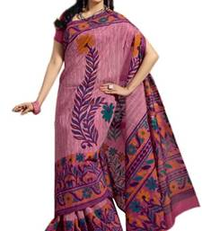 Buy Aria Pink cotton printed summer collection saree ks372 cotton-saree online