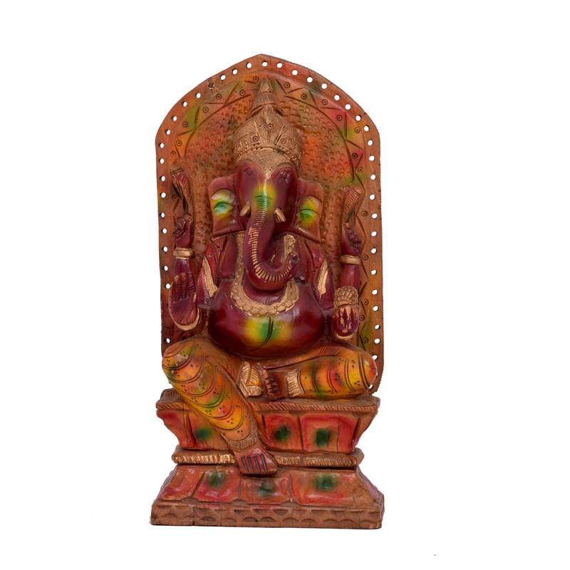 Buy Multi Color Good Luck Ganesh Statue For Home Decor Gifts Online