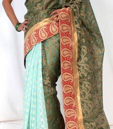 Buy Supernet Designer Half Half Saree supernet-saree online