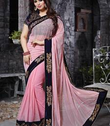Buy Light pink embroidered georgette saree with blouse georgette-saree online