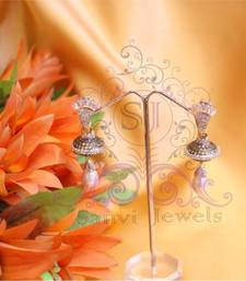 Buy Gorgeous Pearl & Champagne Earrings danglers-drop online