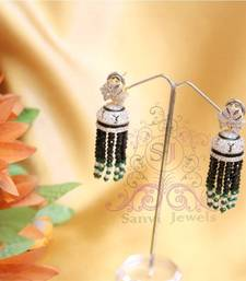 Buy Diamond Look  Black Onyx Jhumki  jhumka online
