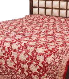 Buy Floral & Leafy Print Hand Block Reversible Design Double Bed Quilt quilt online
