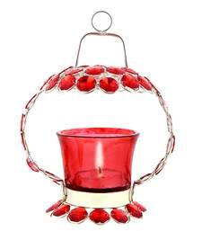 Buy Red Crystal Tealight Candle Holder Stand Handicraft Item candle online