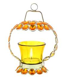 Buy Yellow Crystal Tealight Candle Holder Stand Handicraft Item candle online