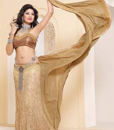 Buy New Designer wonderful Cream color Party wear Saree lehenga-saree online