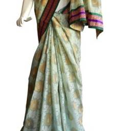 Buy Banarasi Chanderi Silk Saree With Border banarasi-silk-saree online