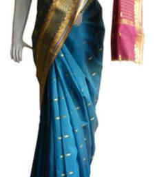 Buy Blue & Pink Banarasi Silk Saree  2120-2174 banarasi-silk-saree online