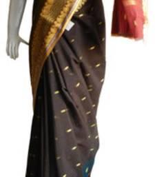 Buy Black & Pink Banarasi Silk Saree  2120-2182 banarasi-silk-saree online