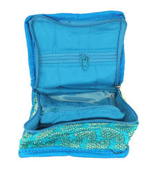 Buy Goldencollections Blue Jewellery Pouch jewellery-box online