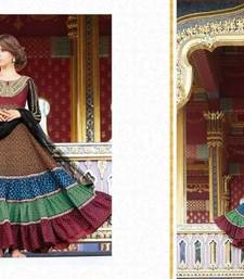 Buy Cotton Embroidered Anarkali Party Wear Suit pakistani-salwar-kameez online