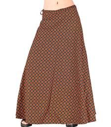 Buy Ethnic Fancy Blue Designer Wrap Around Skirt skirt online