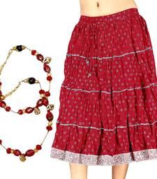 Buy Buy Cotton Short Skirt n Get Brass Anklet Free skirt online