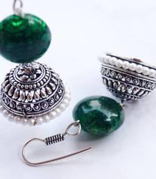 Buy green pearl jhumka jhumka online