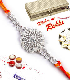 Buy Special Rakhi for brother, Floral Rakhi in Premium Gift box rakhi-with-sweet online