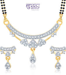 Sukkhi Exotic Gold and Rhodium Plated Cubic Zirconia Stone Studded Mangalsutra Set(14035MSCZK1000) shop online