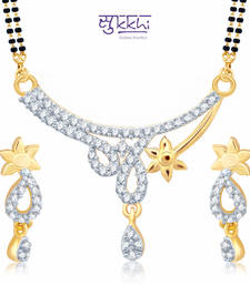 Sukkhi Moddish Gold and Rhodium Plated Cubic Zirconia Stone Studded Mangalsutra Set(14037MSCZK1200) shop online