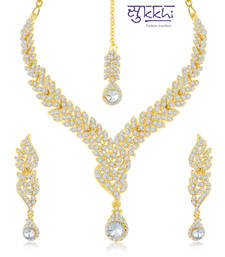 Buy Sukkhi Fine Gold Plated Australian Diamond Stone Studded Necklace Set(2012NADK1600) great-online-shopping-festival-2014 online