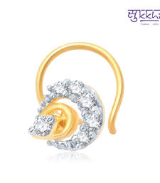 Buy Sukkhi Intricately Gold and Rhodium Plated CZ Nose Pin(36042NPCZK200) nose-ring online