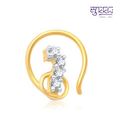 Buy Sukkhi Cluster Gold and Rhodium Plated CZ Nose Pin(36052NPCZK200) nose-ring online
