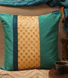 Buy Cushion cover - Teal patch  pillow-cover online