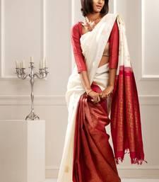 Buy Aavaranaa White silk sarees silk-saree online