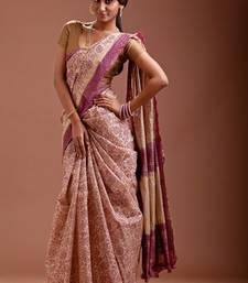 Buy Aavaranaa Beigedhakai silk sarees silk-saree online