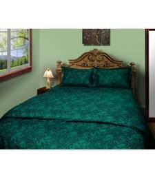 Buy Just Linen 250 TC Cotton Percale Paisley Printed Turquoise Fitted Bedsheet Set bed-sheet online