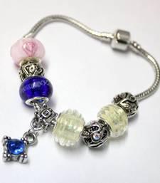 Buy Blue Rhinestone Charm Bracelet bangles-and-bracelet online