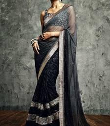 Buy Vishal  Black Saree Iifanazakat33517 party-wear-saree online