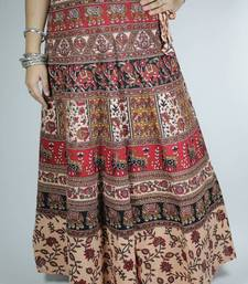 Buy Block Print Wrap Around Skirt skirt online