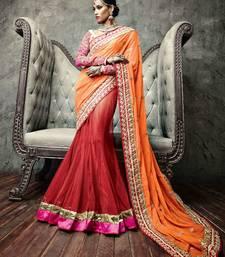 Buy Vishal Orange Maroon Pink Cream Saree Iifanazakat33507 party-wear-saree online