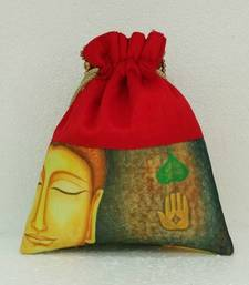 Buy Party,Ladies,purse,bag,evening bag,gift,Envelope,screen,print,printed, buddha,ethnic,design,Party,trendy,clutch potli-bag online