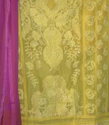 Buy Beautiful Yellow Organdy Salwarkameez party-wear-salwar-kameez online