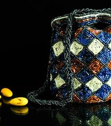 Buy Red & Blue Beadwork Pouch/Potli Bag potli-bag online