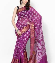 Buy Faux cotton silk fancy zari banarasi saree work cotton-silk-saree online