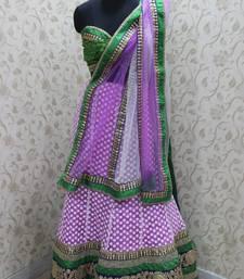 Buy Light Purple Green Border Lehenga lehenga-choli online