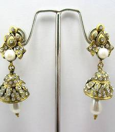 Buy Victorian Mini Cone Earrings (White) Earring online